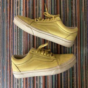 Yellow Vans Muted Yellow Unisex Women's Sz 8.5